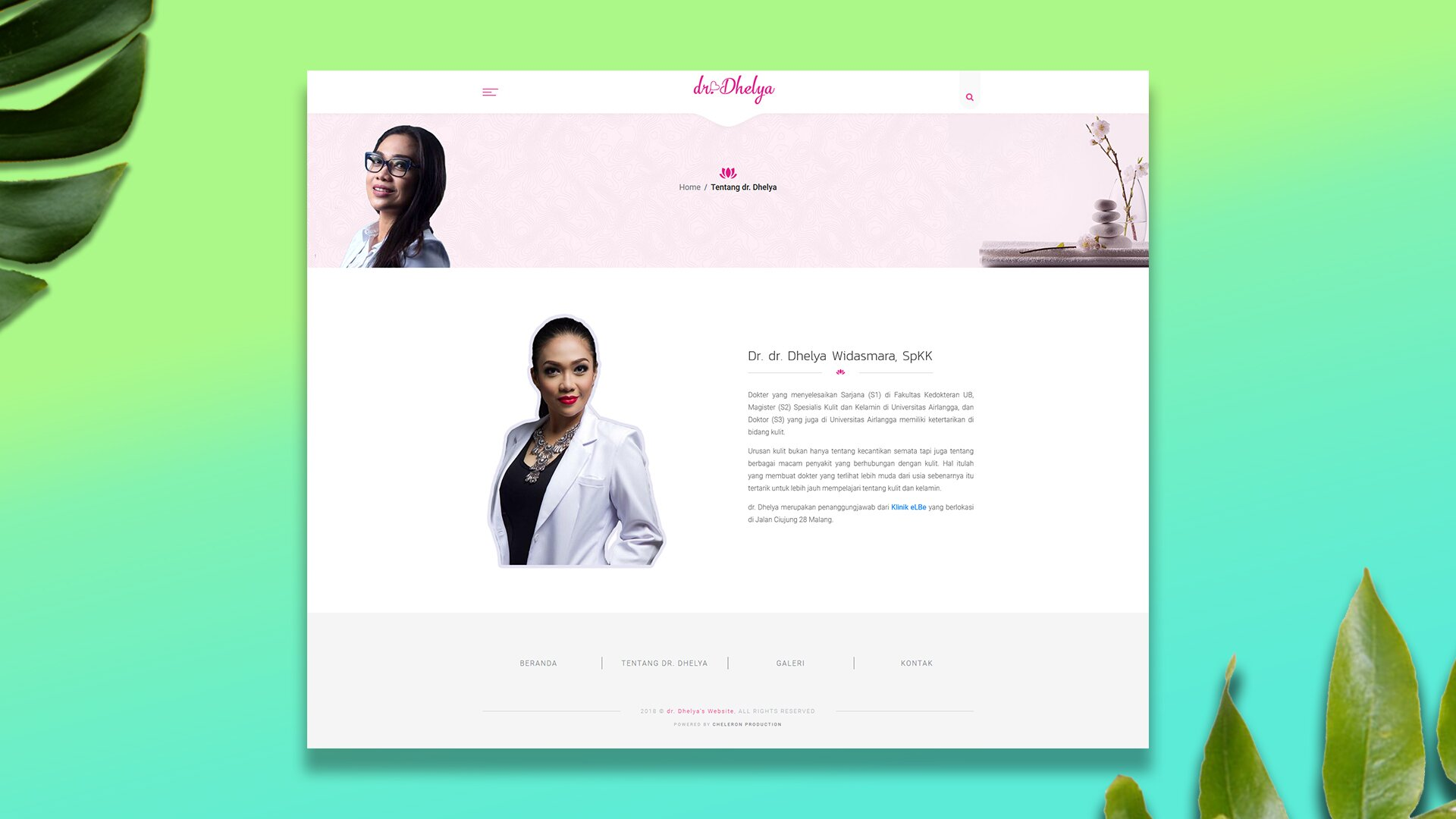 Professional Website : dr. Dhelya